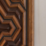 An unusual 19th century carved chestnut panel