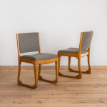 A pair of stained beech Work chairs by Holger Jacobsen (1918-2018)