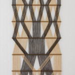 A large and early model no. 26 macrogauze wall hanging by Peter Collingwood (1922 - 2008)