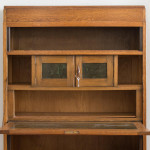 A rare Haagse School oak and copper secretaire by Frits Spanjaard (1889 - 1978)