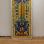 A large rectangular enamelled mosaic panel in the manner of Frank Lloyd Wright (1867 - 1959)