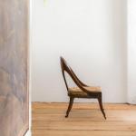 A Regency Klismos spoonback chair