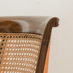 A single George IV mahogany and caned side chair