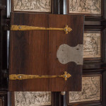 An important and rare Neapolitan baroque ebony and ivory cabinet on stand attributed to Iacopo Fiamengo with engravings by Giovanni Battista de Curtis