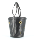 A black handbag  Description automatically generated with low confidence