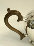 SOLID SILVER 4 PIECE COFFEE & TEA SET LONDON 1936 / 9 (TEAPOT, COFFEE POT)