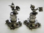 Rare Set of 4 Continental Silver Figures c1920
