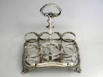 (SOLD) Antique Victorian Silver Cruet Stand / Condiment Set London 1862
