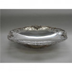 LARGE SOLID SILVER DISH / FRUIT BOWL SHEFFIELD 1940