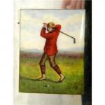 VICTORIAN SILVER & ENAMEL GOLF / GOLFING CIGARETTE CASE 1893