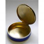 Austrian Silver & Enamel Box Baden c 1920