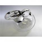 VICTORIAN SILVER & GLASS CLARET / WINE JUG LONDON 1893