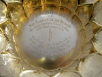 ANTIQUE SILVER GILT TROPHY / CUP LONDON 1909 (COPY OF THE EXETER GOLD CUP 1660)