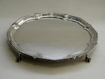 VINTAGE SOLID SILVER SALVER / TRAY SHEFFIELD 1917 Suitable for Engraving