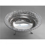 LARGE SOLID SILVER DISH / FRUIT BOWL LONDON 1921