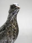 LARGE ANTIQUE SILVER PLATED PHEASANT BIRD MODEL STATUE FIGURE c 1910