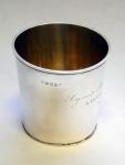 ANTIQUE GEO. III GEORGIAN SILVER BEAKER / CUP / TUMBLER LONDON 1813