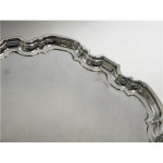 """SILVER 12"""" CHIPPENDALE SALVER / TRAY SHEFFIELD 1932 SOLD"""
