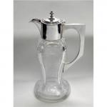Antique Silver & Cut Glass Claret Jug, Birmingham, 1905