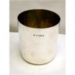(SOLD) ANTIQUE GEORGIAN GEO. IV SILVER CUP / BEAKER / TUMBLER LONDON 1821