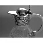 Victorian Silver & Glass Claret Jug Sheffield. 1899