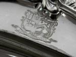 ANTIQUE GEORGIAN GEO. III SILVER MEAT PLATTER / SERVING TRAY LONDON 1761