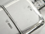 ANTIQUE SOLID SILVER HIP FLASK WITH FITTED CUP SHEFFIELD 1904