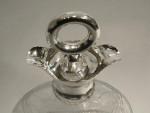 ANTIQUE SILVER & CUT GLASS DECANTER LONDON 1903 NAUTICAL, LIFE PRESERVER