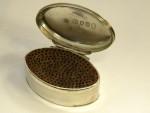 ANTIQUE GEO. III GEORGIAN SILVER NUTMEG GRATER BOX LONDON 1788