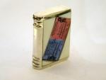 RARE VICTORIAN SILVER & ENAMEL BOOK VESTA CASE / MATCH HOLDER BIRM 1896 TICKET