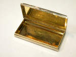 ANTIQUE VICTORIAN SILVER CASTLE TOPPED SNUFF BOX BIRM 1838 KENILWORTH CASTLE
