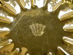 SET OF 6 VINTAGE SOLID SILVER GILT DESSERT PLATES LONDON 1929