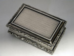 ANTIQUE WILLIAM IV SOLID SILVER SNUFF BOX BIRMINGHAM 1832
