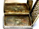 (SOLD) ANTIQUE VICTORIAN SILVER CASTLE TOPPED VINAIGRETTE BIRM. 1838