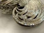 ANTIQUE GERMAN CONTINENTAL SILVER ROOSTER / COCKEREL MODEL ENGLISH IMPORT 1909