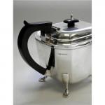 VINTAGE SOLID SILVER 3 PIECE TEA SET SHEFFIELD 1930 (TEAPOT, SUGAR, CREAM JUG)