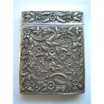ANTIQUE VICTORIAN SILVER CARD CASE BIRMINGHAM 1838