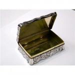 ANTIQUE VICTORIAN SILVER SNUFF BOX BIRMINGHAM 1846