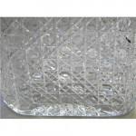 VICTORIAN SILVER & CUT GLASS BISCUIT BOX BARREL SHEFFIELD 1900