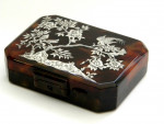 ANTIQUE SILVER & TORTOISE SHELL BOX / COMPACT / CIGARETTE CASE / CLUTCH c 1900