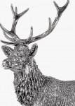 Hallmarked Silver Model Stag Statue / Figure (English Silver)