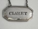 SET OF 3 VICTORIAN SILVER DECANTER LABELS LONDON 1881 CLARET PORT SHERRY LABEL