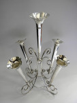 LARGE ANTIQUE SILVER PLATED EPERGNE / CENTERPIECE / VASE c. 1910