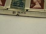 RARE ANTIQUE SOLID SILVER & ENAMEL STAMP BOX HOLDER LONDON 1902