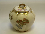 VICTORIAN ROYAL WORCESTER CHINA BISCUIT BARREL / BOX c. 1880