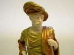 PAIR VICTORIAN ROYAL WORCESTER FIGURINES BRINGAREE INDIAN & CAIRO WATER CARRIER
