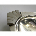 Pair Solid Silver Art Deco Dishes Birmingham 1938