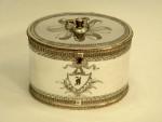 GEO. III GEORGIAN OLD SHEFFIELD PLATE / SILVER PLATE TEA CADDY BOX c. 1790