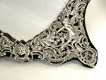 ANTIQUE SOLID SILVER VICTORIAN STYLE DRESSING TABLE MIRROR LONDON 1903