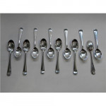 12 VINTAGE SILVER COFFEE SPOONS SHEFFIELD 1935 (RATTAIL)